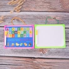 Whiteboard droge wipe board mini tekening whiteboard kleine opknoping Board met marker pen  willekeurige kleur levering