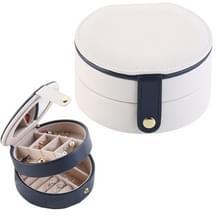 2 Tiers sieraden draagbare vak make-up oorbellen Case opslag organisator container (wit)