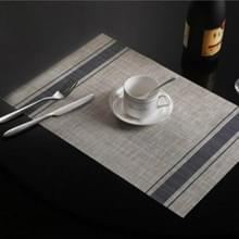 2 PCS Duurzaam PVC Tafelmatten Koffie cup pad gevlochten slip placemats  grootte: 30x45cm(Blauw)
