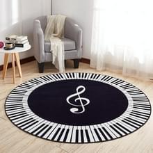 Muziek symbool piano sleutel ronde tapijt Home slaapkamer mat vloer decoratie Tapijt  diameter: 100cm (ronde piano)