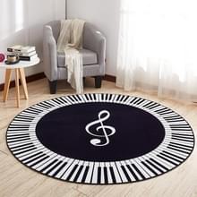 Muziek symbool piano sleutel ronde tapijt Home slaapkamer mat vloer decoratie Tapijt  diameter: 120cm (ronde piano)