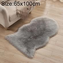 Onregelmatige vorm faux wollen wasbaar tapijt woonkamer bank kussen  grootte: 65x100cm (grijs)