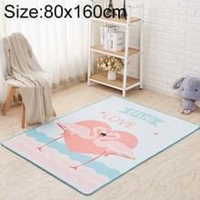 Mega Nordic stijl cartoon tapijt woonkamer anti val antislip Vloermatten  grootte: 80x160cm (Flamingo)