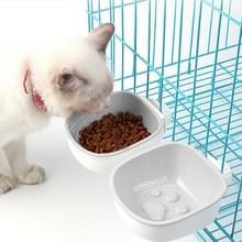 Hond en kat anti-choke feeding water opknoping bowl Creatieve Plastic Pet Bowl  Stijl: Footprint (Grijs)