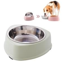 Driehoek Stainless Steel Dog Bowl Candy Kleur Plastic Non-slip Pet Single Bowl (Groen)