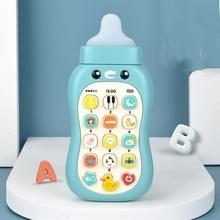 Kinderen Story Machine Mobiele Telefoon Speelgoed kleine fles tandpasta puzzel vroege opleiding Speelgoed geen licht (Fog Blue)