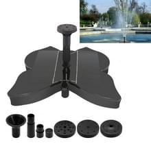 Vlindervormige Sprinkler Tuin Zwembad Landschap Decoratie Solar Fountain Pump Aquarium Water Circulation Supplies (Zwart)