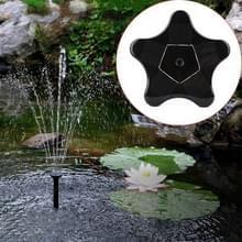 Outdoor Solar Garden Decoratie Zeesterren Fontein Pump Pool(Zwart)