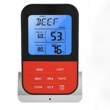 LCD Digital Food Thermometer met Dual Probe Sensors Timer (Zilver)