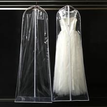 Transparante vacht trouwjurk Gown beschermende cover Dust Cover opbergtas