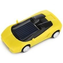 3PCS Solar Toys auto aangedreven mini auto racer speelgoed voor kinderen (geel)