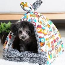 Afneembare en wasbaar gesloten vier seizoenen universele warme huisdier nest hondenmand  maat: M (Ary groen)