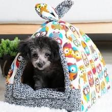 Afneembare en wasbaar gesloten vier seizoenen universele warme huisdier nest hondenmand  maat: L (Ary groen)
