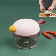 Huishouden Multi-functie Mini Knoflook Cutter Snijden groenten beukende knoflook keukengerei (Roze)