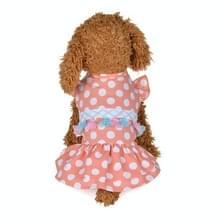 Sweet Summer cute huisdier jurk huisdier dot Fringe rok  maat: M (roze)