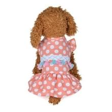 Sweet Summer cute huisdier jurk huisdier dot Fringe rok  maat: L (roze)
