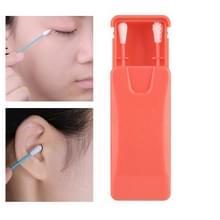 2 in 1 Oor reiniging cosmetische siliconen knoppen dubbelhoofdig Recycling Reiniging Make-up Swabs Sticks (Rood)