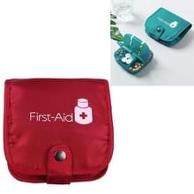 Draagbare pil geneeskunde opbergdoos reizen pil zaak tas organisator  kleur: rode geneeskunde tas