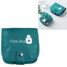 Draagbare pil geneeskunde opbergdoos reizen pil zaak tas organisator  kleur: groene geneeskunde tas