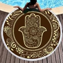Vintage ronde gedrukte strandlaken microfiber zwembad sneldrogend kussen  grootte: 150 x 150cm (model 2)