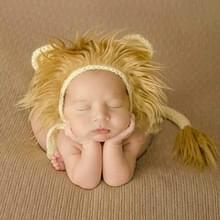 Pasgeboren Fotografie Little Lion Wool Cartoon Hoed en Staart Rekwisieten voor 0-2 maand (Hoed + Staart)