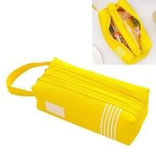 Dubbele rits grote potlood geval kawaii school Pencilcase grote pen vak voor meisjes briefpapier leveringen potlood vak tas (geel)
