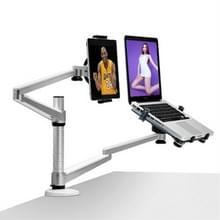OA-9X aluminiumlegering in hoogte verstelbaar universele rotatie dubbele arm houder Notebook Tablet combinatie stand