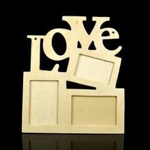 2 PC'S kinderen DIY houten Siamese letters witte embryo Snowflake modder fotolijstjes  framemaat: 19.5 CMX 16.5 cm