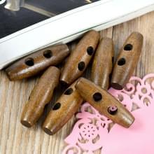 20 in 1 Vintage bruin houten olijf gesp platte gesp  specificatie: 3 5 x 1.1 cm (bruin)