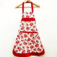 Huishoudelijke Rose waterdichte keuken schorten bloem schoonmaken overalls (rood)