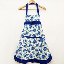 Huishoudelijke Rose waterdichte keuken schorten bloem schoonmaken overalls (blauw)