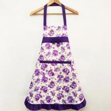 Huishoudelijke Rose waterdichte keuken schorten bloem schoonmaken overalls (paars)
