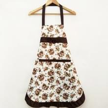Huishoudelijke Rose waterdichte keuken schorten bloem schoonmaken overalls (bruin)