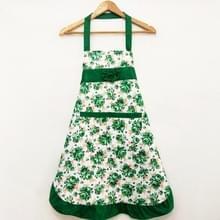 Huishoudelijke Rose waterdichte keuken schorten bloem schoonmaken overalls (groen)