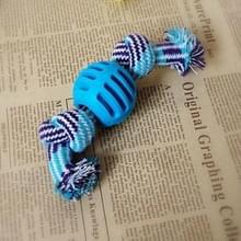 3 STKS huisdier hond speelgoed kauwen tanden schoon buiten traning leuk spelen touw bal (blauw)