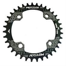MOTSUV ronde smalle brede Chainring MTB fiets 104BCD tand plaat onderdelen schijf 36T (zwart)