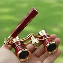 Metalen 3 X 25 Lady met handvat chroom dubbele cilinder telescoop (wijn rood)