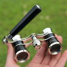 Metalen 3 X 25 Lady met handvat chroom dubbele cilinder telescoop (zwart)