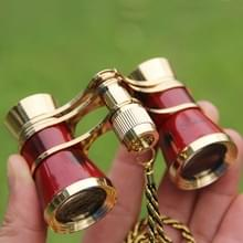 Metalen 3X25 riem gold plating rode klassieke gift spiegeltelescoop