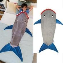 Winter Shark zeemeermin slapen deken slapen Swaddle zachte wol kinderen slaapzak (Grijze haai)