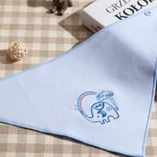 Afgedrukt dubbelzijdig ademend driehoek handdoek baby cartoon patroon speeksel handdoek (Blauwe olifant)
