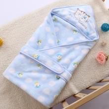 93 * 93cm pasgeboren baby verpakt lente herfst winter levert dikke warme Flanel quilt handdoek (hemelsblauw Cat)