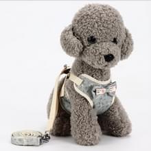 Universele hond terug huisdier borst touw tractie touw keten leiband  maat: S (Grey)
