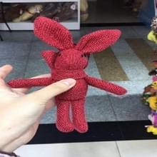 Pluche speelgoed wensen konijn pop  linnen sjaal lange voet zak boeket konijn pop  hoogte: 16-18cm (rood)