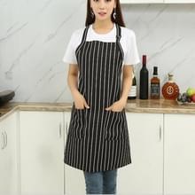 Chef schorten Unisex keuken Hotel Coffee Shop bakkerij ober werk slijtage  stijl: witte verticale balk  grootte: 65x73cm
