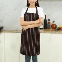 Chef schorten Unisex keuken Hotel Coffee Shop bakkerij ober werk slijtage  stijl: rode en witte verticale staven  grootte: 65x73cm