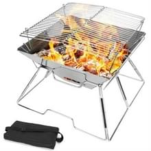 Liftable Barbecue Grill Camping Roestvrijstalen opvouwbare barbecue grill houtsnippers grill grill