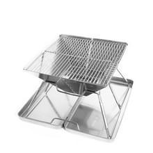 Draagbaar vouwen buiten RVS houtskoolbarbecue  Grill/plaat specificaties: 31 * 31 * 22cm