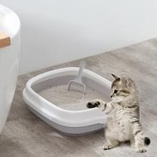 B22210 half omsloten afneembare huisdier kattenbak met Kattenbakvulling (klein grijs)