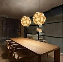 2 PC'S puzzel IQ lampenkap Bar creatieve sferische kroonluchter lantaarn lamp verlichting  willekeurige kleur levering